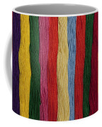 Multicolored Embroidery Thread In Rows Coffee Mug