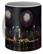 New York City Celebrates The 4th Coffee Mug by Susan Candelario