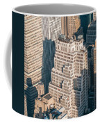 New York City Manhattan Midtown Aerial Panorama View With Skyscr Coffee Mug