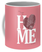 New York Map Home Heart - New York City New Yorkroad Map In A He Coffee Mug