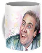 Nicolas Cage You Don't Say Watercolor Portrait Coffee Mug