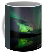 Night Sky Stars Clouds Northern Lights Mirrored Coffee Mug
