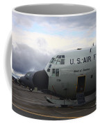 Nose Cone Detail On A Lc-130h Aircraft Coffee Mug
