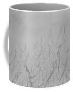 Ocean Sand Art Hearts Coffee Mug