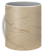 Ocean Sand Art Hearts Left Side Coffee Mug