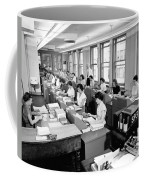 Office Workers Entering Data Coffee Mug by Underwood Archives