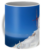 Oia Town On Santorini Island Greece Coffee Mug