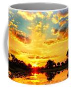 Okavango Delta Sunset Coffee Mug