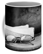 Old Glasses On Desk Coffee Mug