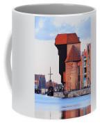 Old Port Crane In Gdansk Coffee Mug