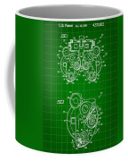 Optical Refractor Patent 1985 - Green Coffee Mug