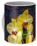 Orchid Flowers Growing Through Old Wooden Picture Frame Coffee Mug
