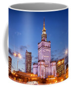 Palace Of Culture And Science At Dusk In Warsaw Coffee Mug by Artur Bogacki