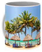 Palm Trees And Sea Coffee Mug