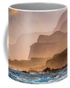Panoramic Of Molokais North Shore Sea Coffee Mug