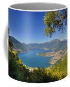 Panoramic View Over An Alpine Lake Coffee Mug