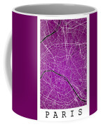 Paris Street Map - Paris France Road Map Art On Colored Backgrou Coffee Mug