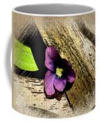 Peeking Violet Coffee Mug
