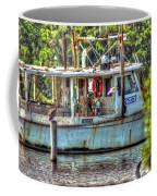 Pelican And Fishing Boat Coffee Mug