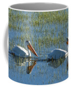 Pelicans In Hayden Valley Coffee Mug