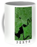 Perth Street Map - Perth Australia Road Map Art On Colored Backg Coffee Mug