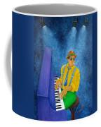 Piano Man Coffee Mug by Pamela Allegretto