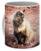 Pine Needle Kitty Coffee Mug