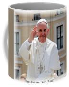Pope Francisco Coffee Mug by Diane Greco-Lesser