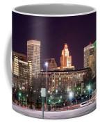 Providence Rhode Island Skyline At Night Coffee Mug