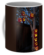 Pumpkin Escape Over Fence Coffee Mug