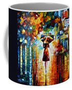 Rain Princess - Palette Knife Landscape Oil Painting On Canvas By Leonid Afremov Coffee Mug