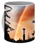 Rainbow Over The City Coffee Mug