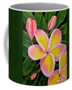 Rainbow Plumeria Coffee Mug
