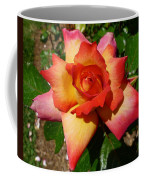 Rainbow Sorbet Rose Coffee Mug by Denise Mazzocco