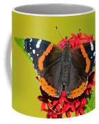 Red Admiral Butterfly Coffee Mug