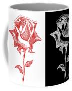 2 Red Rose Drawing Combo Coffee Mug