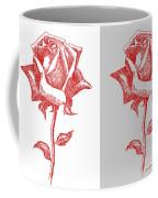 2 Red Roses Poster Coffee Mug