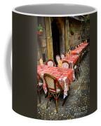Restaurant Patio In France Coffee Mug by Elena Elisseeva