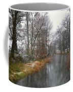 River With Snow Coffee Mug