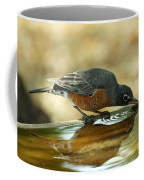 Robin Drinking Coffee Mug