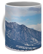 Rocky Mountains Flatirons And Longs Peak Panorama Boulder Coffee Mug