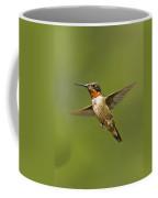 Ruby Throated Hummingbird In Flight Coffee Mug