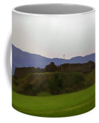 Saltire And The Ruins Of The Urquhart Castle Coffee Mug