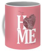 San Diego Street Map Home Heart - San Diego California Road Map  Coffee Mug
