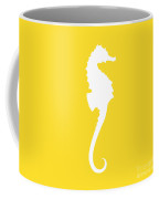 Seahorse In Golden And White Coffee Mug