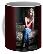 Sexy Blond Sitting Coffee Mug