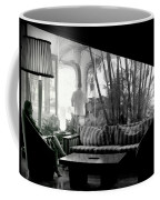 She Waits Coffee Mug by Karen Wiles