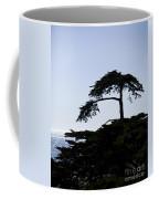 Silhouette Of Monterey Cypress Tree Coffee Mug