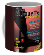 Silhouette Photographer Faux Magazine Cover Coffee Mug