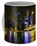 Singapore Skyline As Seen From The Pedestrian Bridge Coffee Mug